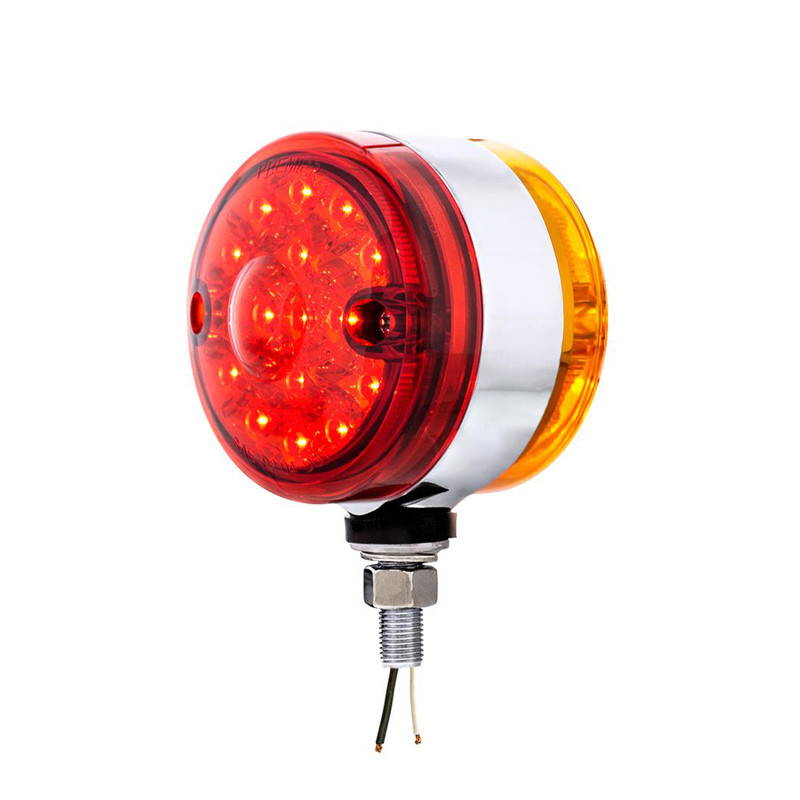 15 LED Double Face Light With Reflector Red Lens LEDs On