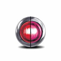 "3/4"" Mini Button Dual Revolution Red & Pink LED Marker Light - Default"
