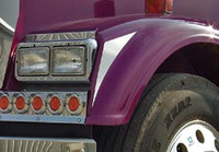 Freightliner Classic XL Side Of Headlight Trims Long Hood By RoadWorks