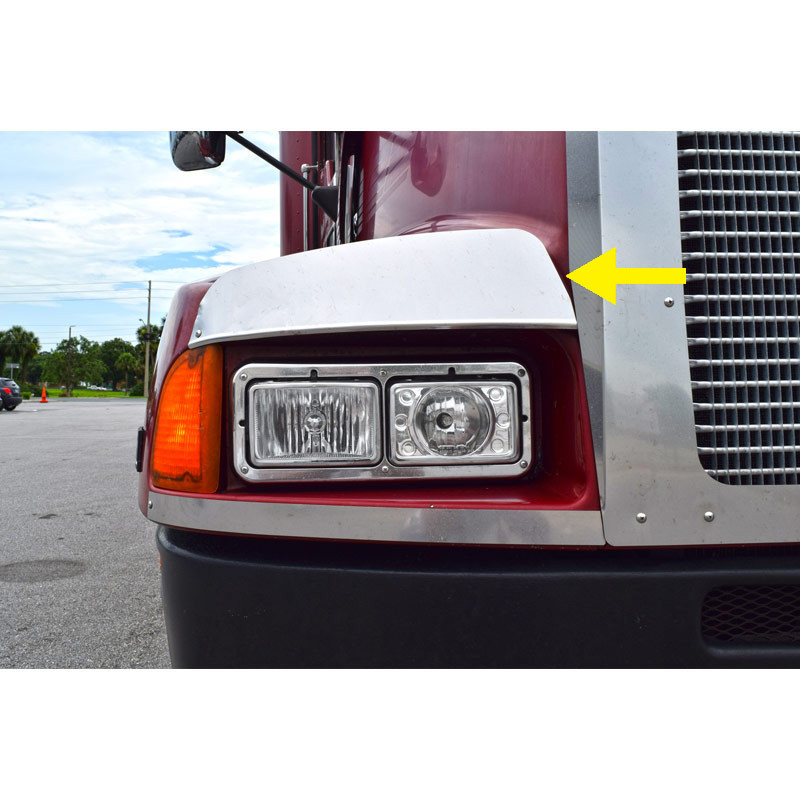 Kenworth T600 Above Headlight Guard Front
