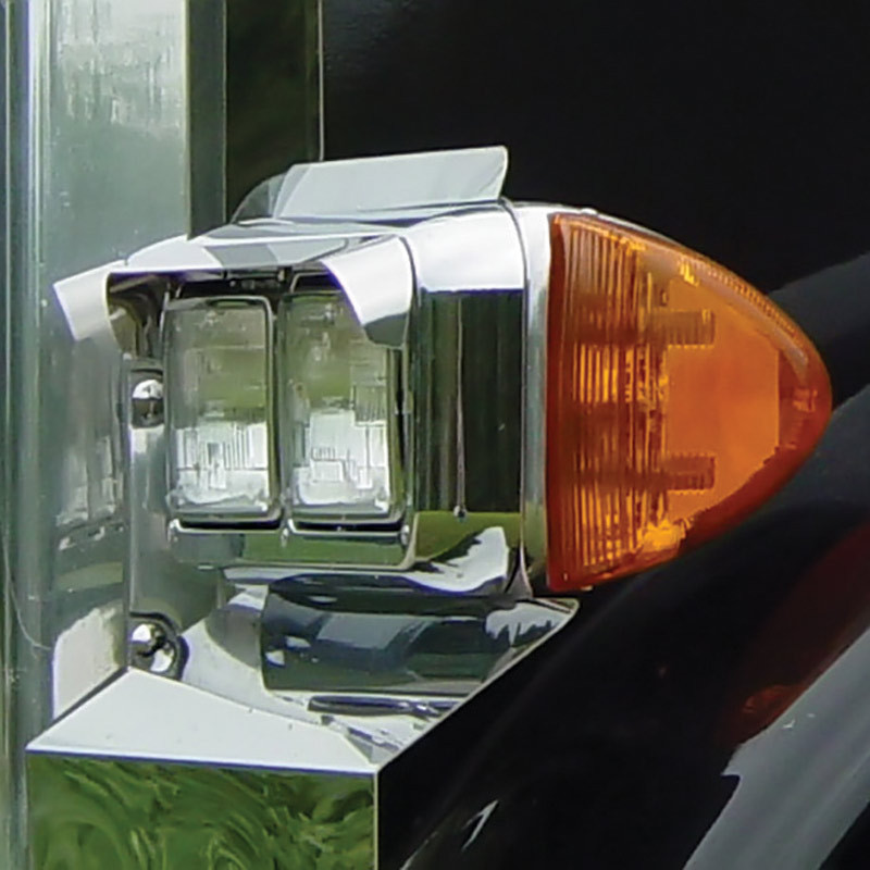 Universal Headlight Visors For Double Rectangular Headlights