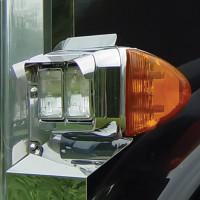 Universal Headlight Visors For Double Rectangular Headlights