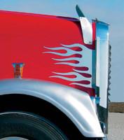 Freightliner Side of Hood Flames Trim