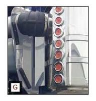 Kenworth W900L Behind Hood Intake Panels By RoadWorks