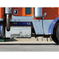 PETERBILT 389 LOWER HOOD EXTENSION PANELS WITH DIMPLES BOLT MOUNT BY ROADWORKS