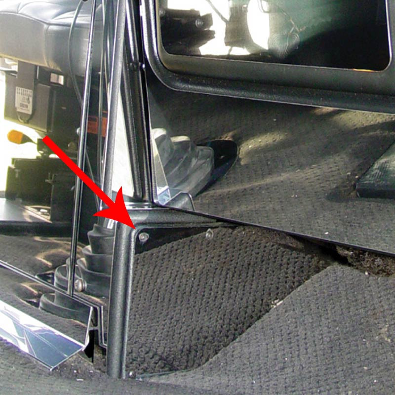 freightliner classic fld passenger side dash kick panel trim by roadworks raney 39 s truck parts