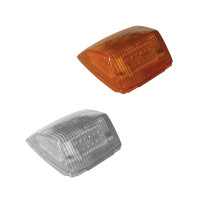 Two Square Cab 42 Diode Amber LED Lights with Amber and Clear Lenses
