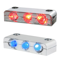 3 LED Step Light With Chrome Housing