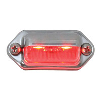 2 LED Red Step And License Plate Light