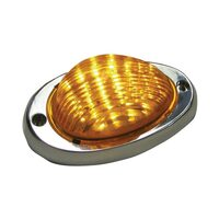 Freightliner Sleeper Amber LED Bubble Light With Amber Lens Lit
