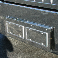 Kenworth W900 Texas Style Bumper Swing Plate With 2 License Plates