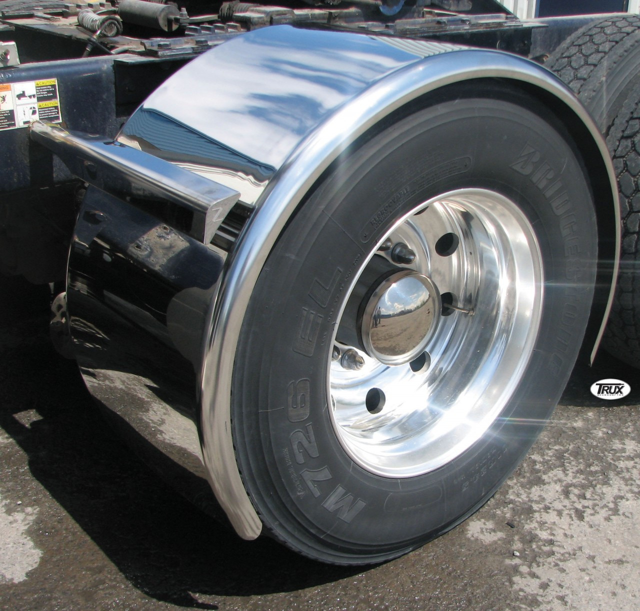 Single Axle Tires : Quot super long stainless steel single axle fenders raney