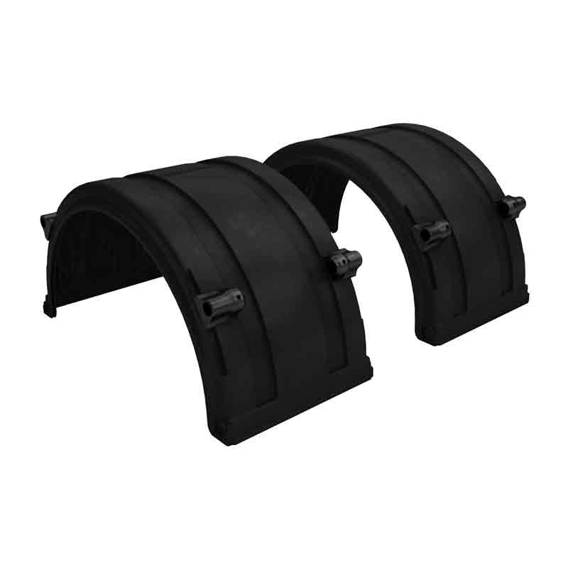"Black Spray Master FRX Series Single Axle Poly Fenders For 19.5"" Wheels"