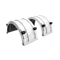 "White Spray Master FRX Series Single Axle Poly Fenders For 19.5"" Wheels"