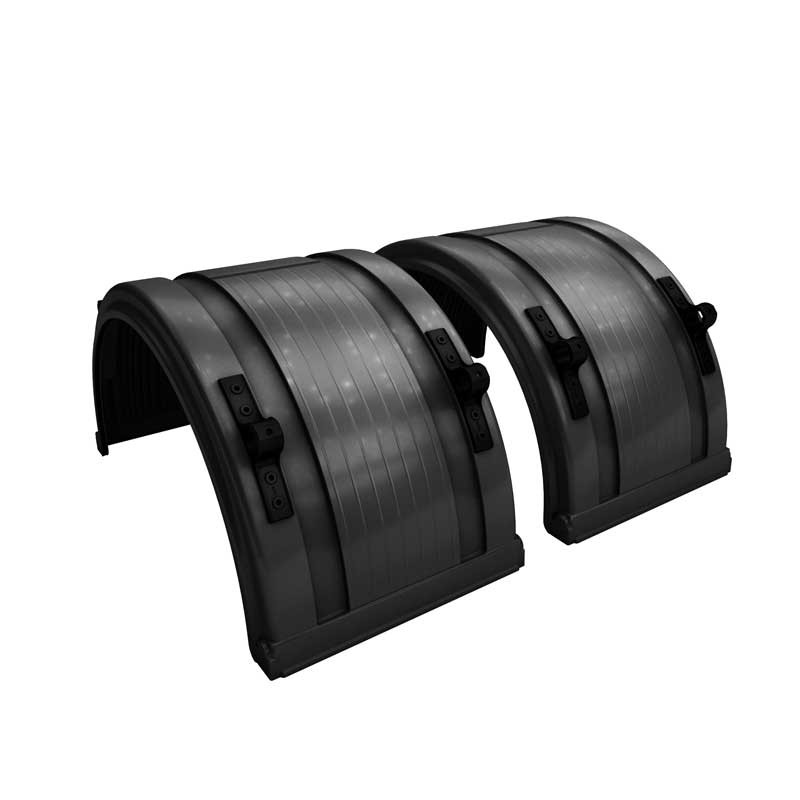 """Black Spray Master Poly Truck Fenders For 22.5"""" Or 24.5"""" Wheels"""