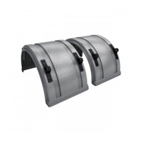"Grey Spray Master Poly Truck Fenders For 22.5"" Or 24.5"" Wheels"