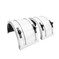"White Spray Master Poly Truck Fenders For 22.5"" Or 24.5"" Wheels"