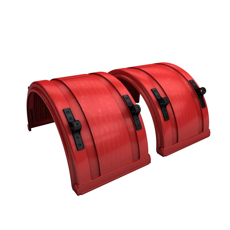 "Red Spray Master Poly Truck Fenders For 22.5"" Or 24.5"" Wheels"