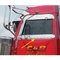 Peterbilt 359 379 386 388 389 Stainless Under Window Trim By RoadWorks