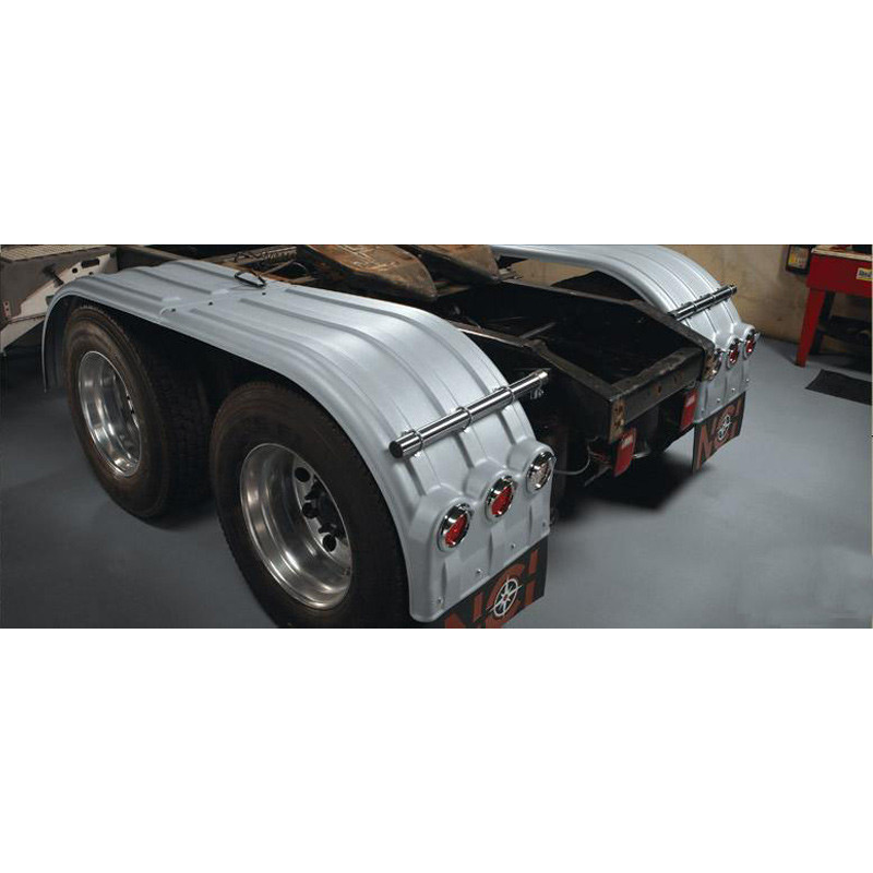 Minimizer Poly Truck Fenders Galvanized Color The Brute 900 Series Back