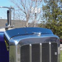 Freightliner FLD 120//112 Stainless Steel Hoodshield Bug Deflector