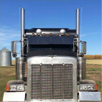 Peterbilt Drop Visor On Black Truck
