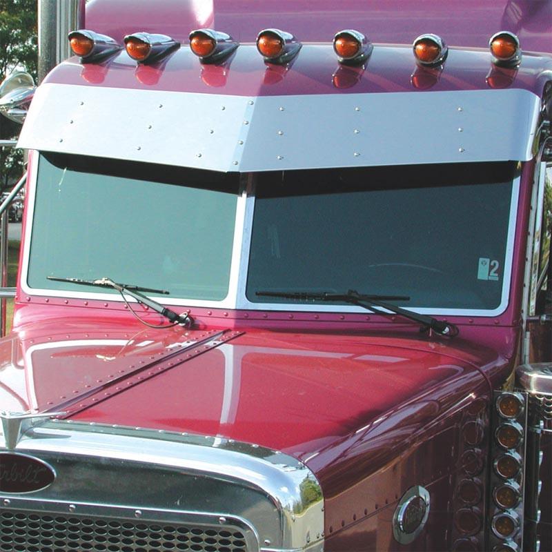 Peterbilt 379 386 388 389 1987+ 3 Piece Windshield Trim On Truck