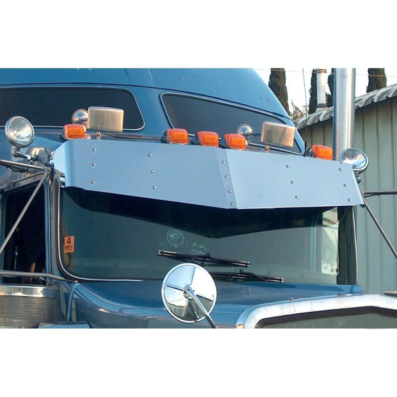 Kenworth W900L W900B T800 T600 V-Style Visor Stainless Steel