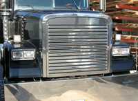 Freightliner FLD 120 Classic Grill Stainless Steel with Horizontal Bars