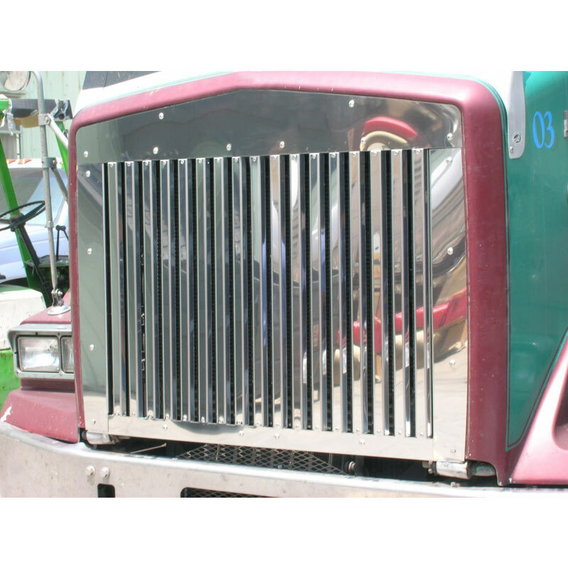 Kenworth T800 Grill with 17 Vertical Bars