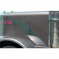 Peterbilt 379 Stainless Steel Hood Emblem Trim