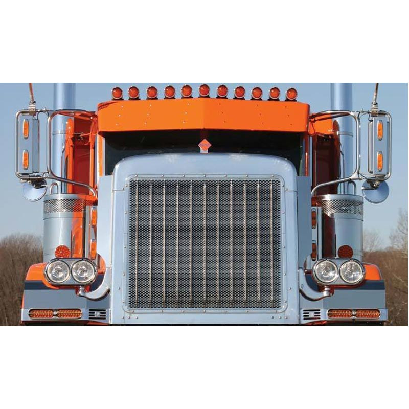Peterbilt 379 Extended Hood Grill With Horizontal