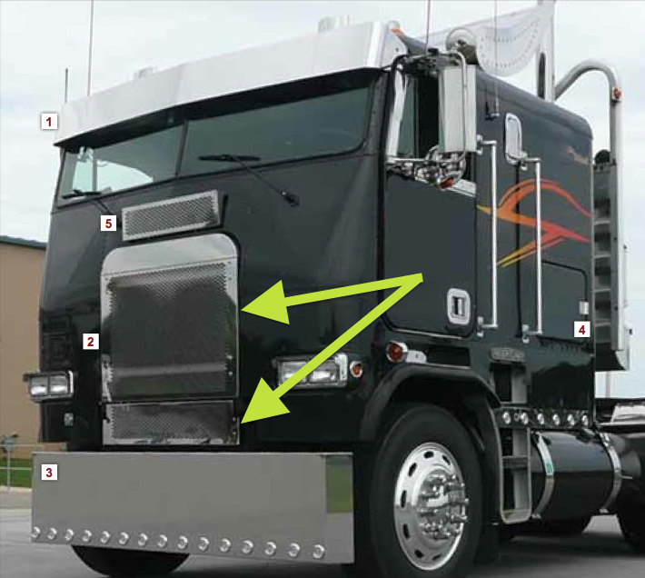 freightliner fla cabover two