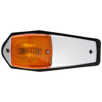 Chrome Bulb Replaceable Cab Marker 1350A Front
