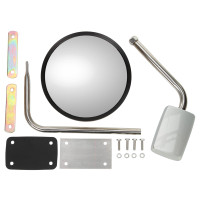 Stainless Steel Convex Hood Mounted Mirror Assy