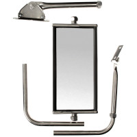 "5"" x 10"" Adjustable Jr. West Coast Silver Mirror"