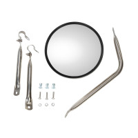 Universal Stainless Steel Convex Mirror Mount Assembly Complete