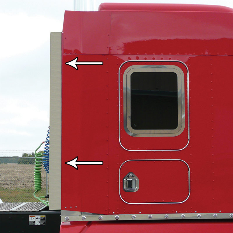 Kenworth T660 Rear Vertical Rubber Sleeper Extenstion Chrome Cover By  Roadworks