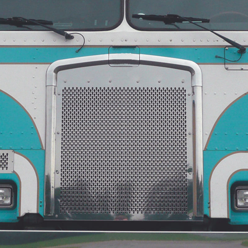 Kenworth K100E Stainless Steel Punch Grill By Roadworks