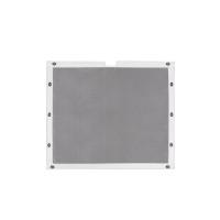 Kenworth T800W Extended Frame Rails Belmor Bug Screen Aluminum w/ White Vinyl