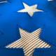 Kenworth T800 T803 American Flag Belmor Bug Screen Fiberglass w/ White Screen - Stars