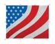 Kenworth T800 T803 American Flag Belmor Bug Screen Fiberglass w/ White Screen