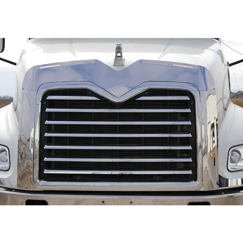 Mack vision stainless steel bug grill deflector raney