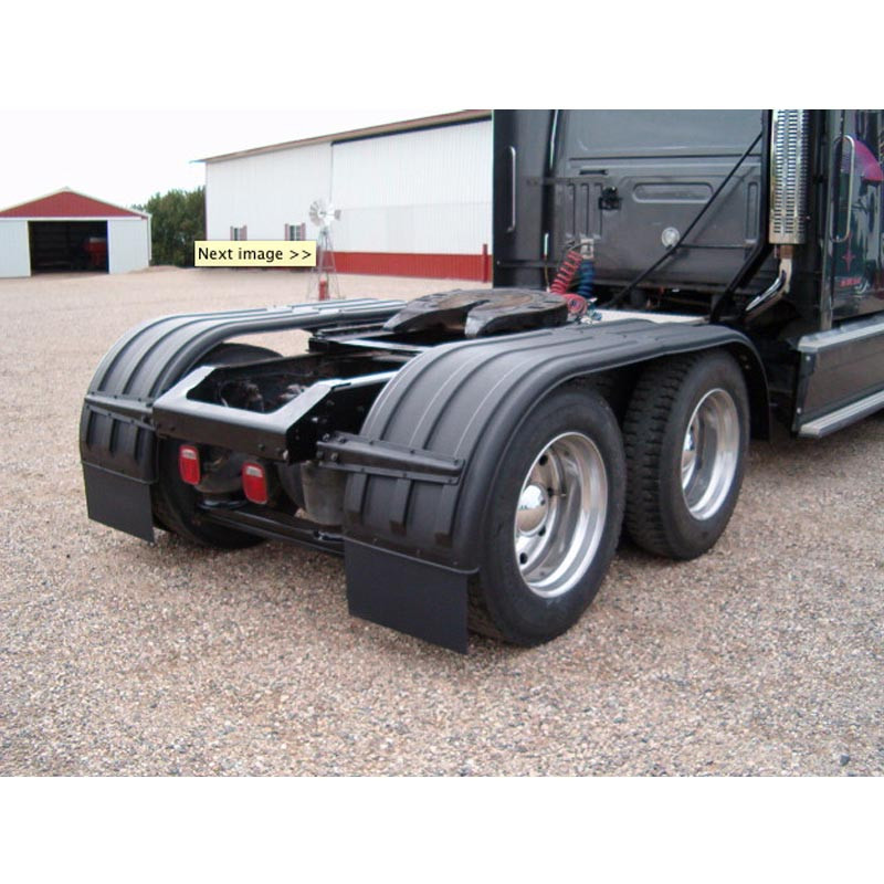 Minimizer Poly Truck Fenders Tandem Axle Black The Brute 900 Series Back