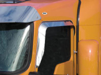 Kenworth Door Window Shade Vent Visor Stainless Steel