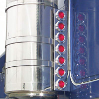 """Kenworth T800 15"""" Donaldson Rear Air Cleaner Light Bar With 2"""" LEDs By RoadWorks"""