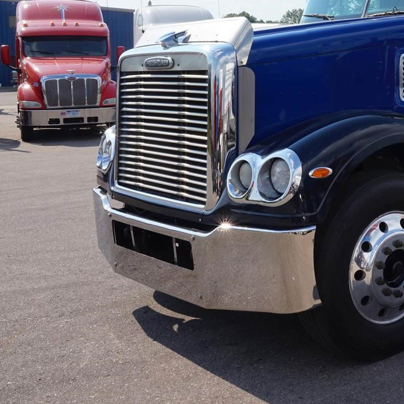 """Freightliner Coronado Chrome Plated 19"""" Bumper 2002- 2009 By Valley Chrome"""