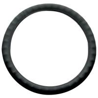"Universal 18"" Black Leather Steering Wheel Cover"