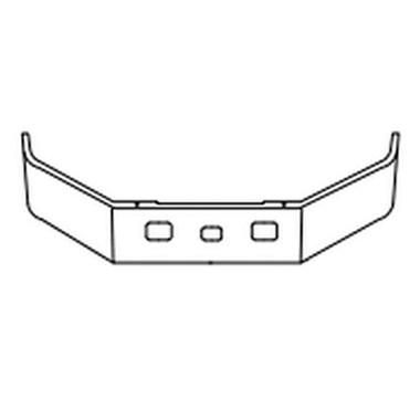 Freightliner FL 50 60 70 80 Bumper By Valley Chrome