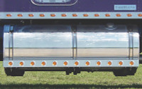 """Kenworth 72.5"""" Fuel Tank Fairings With 2"""" Round LEDs & Chrome Bezels"""